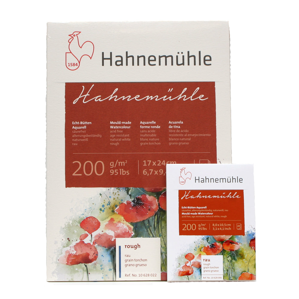 Hahnemühle 200 Rough Mould Made Watercolour Block