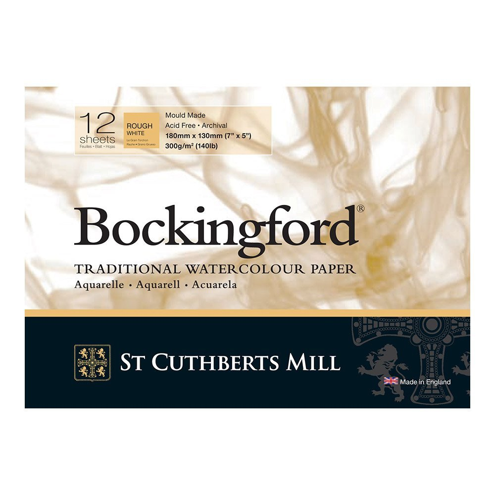 Bockingford  Watercolour 300gsm Glued Pad 12 Sheets  - Rough