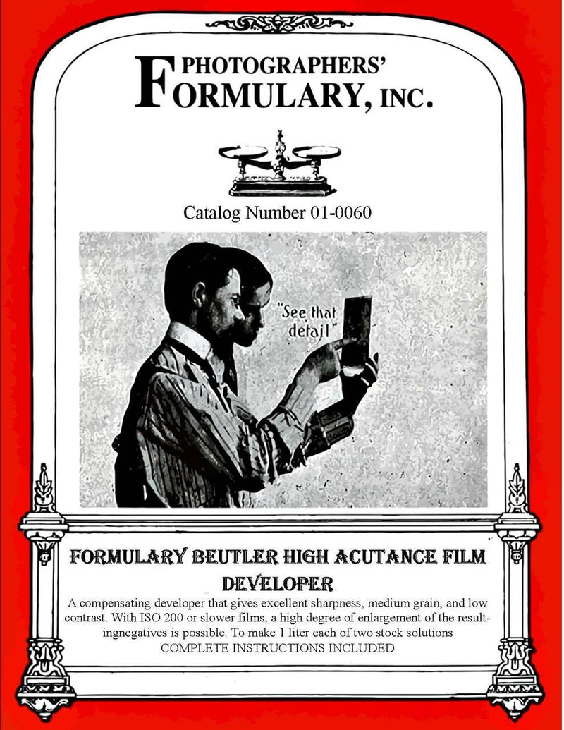 Photographers' Formulary Buetler High Acutance Film Developer (Neofin Blue Formula)