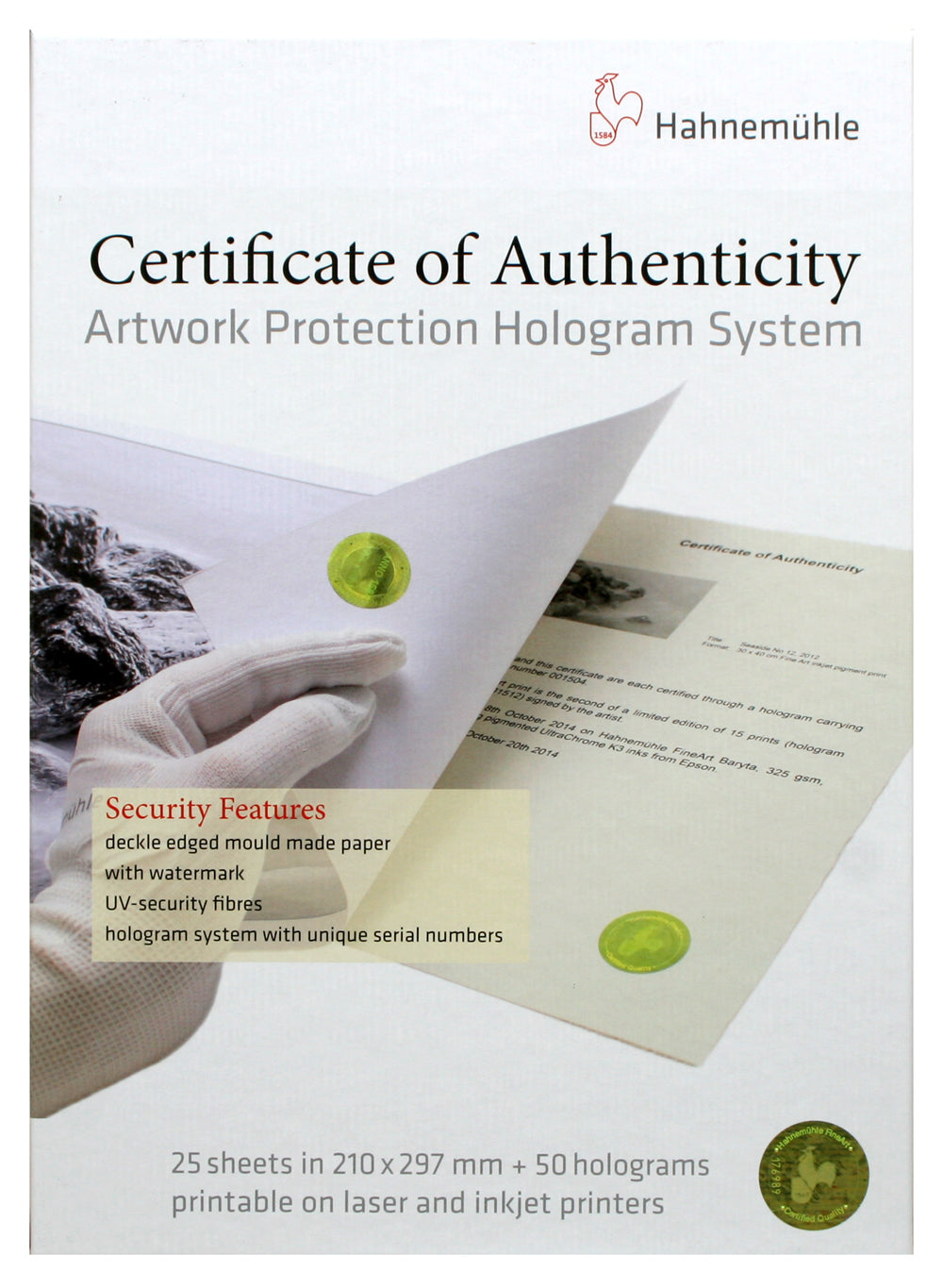 Hahnemühle Certificates of Authenticity 25 Sheets