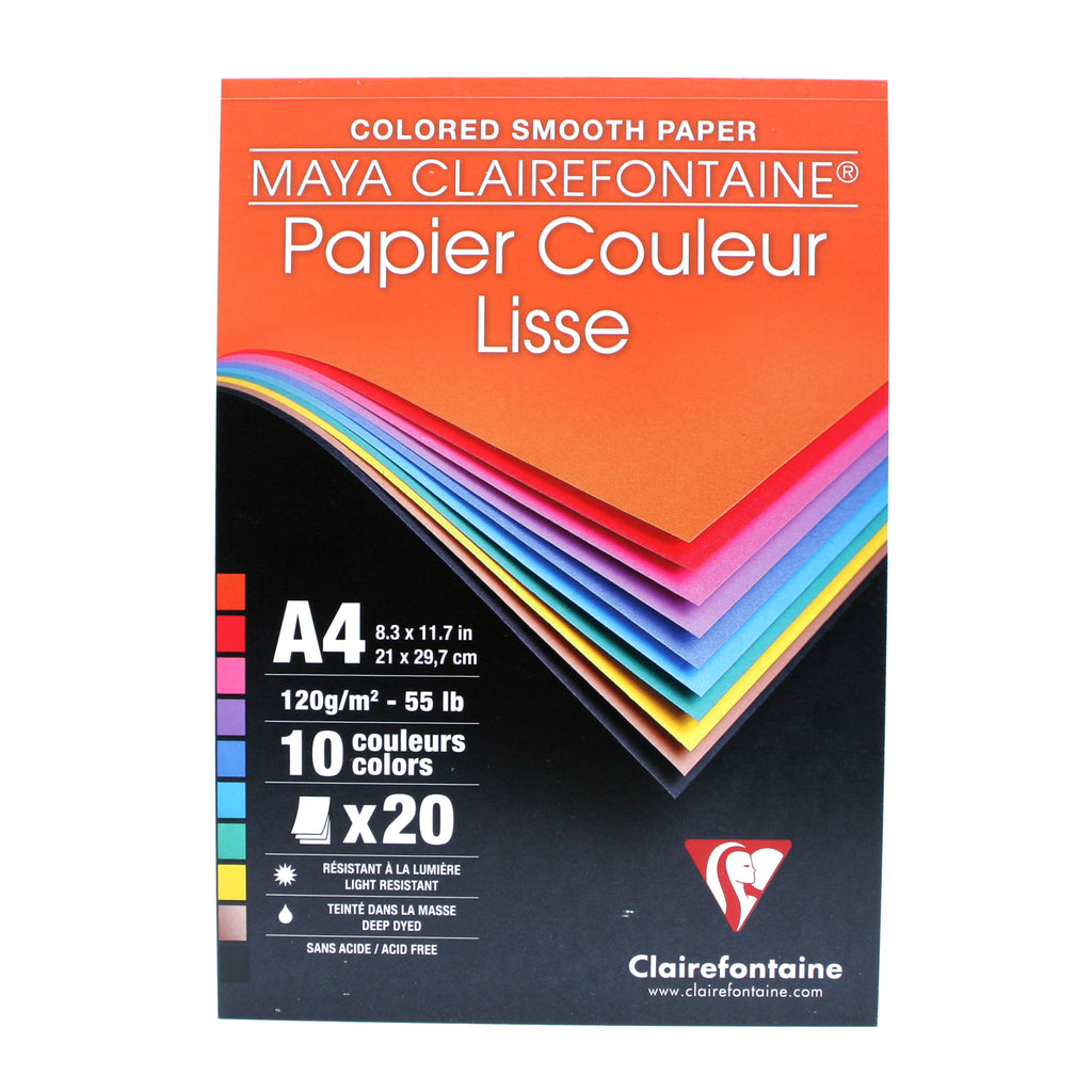 Clairefontaine Maya Multi Colour 120gsm A4 20 Sheets