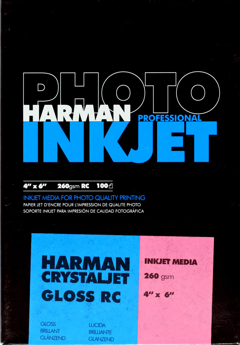 Harman Crystal Jet RC Gloss 260gsm 4x6 100 sheets