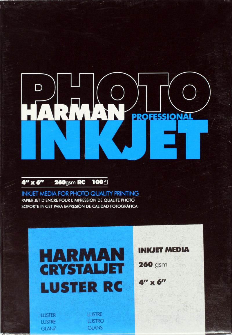 Harman Crystal Jet RC Lustre 260gsm 4x6 100 sheets