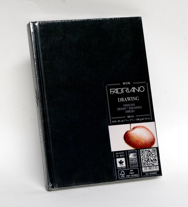 Fabriano Hardcover A5 Sketch Book, 160gsm, portrait, 60 sheets