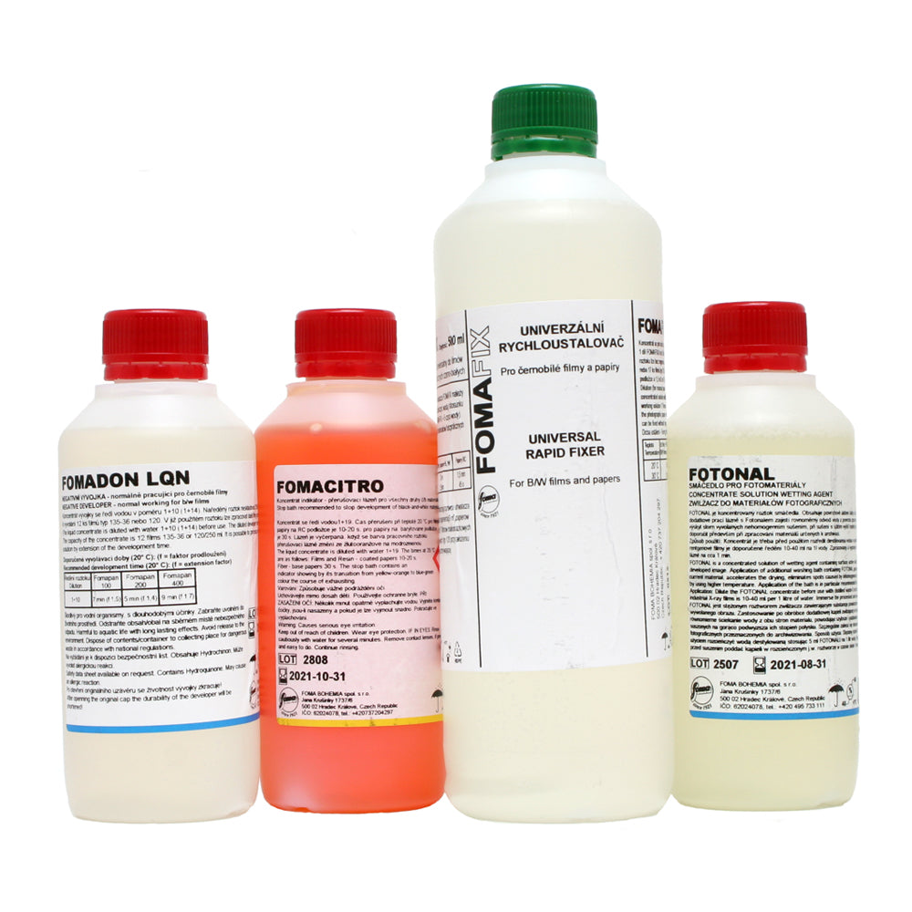 Foma Film Chemical Processing Kit