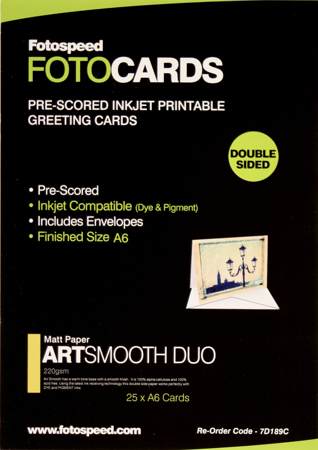Fotospeed Fotocards Art Smooth Duo 220gsm