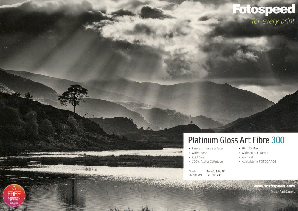 Fotospeed Platinum Gloss Art Fibre 300gsm