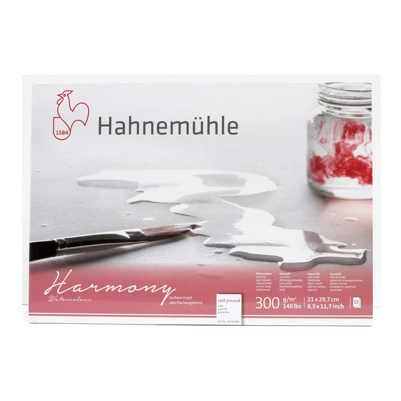 Hahnemühle Harmony 300 gsm Watercolour Block 12 Sheets
