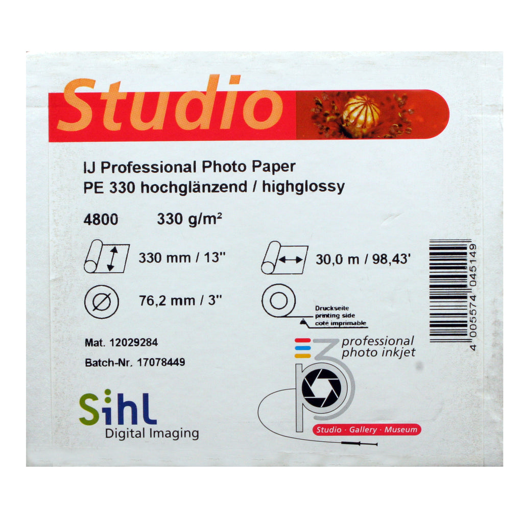 Sihl P3 Photo Inkjet Paper, 330gsm, Gloss 13 Inches x 30m