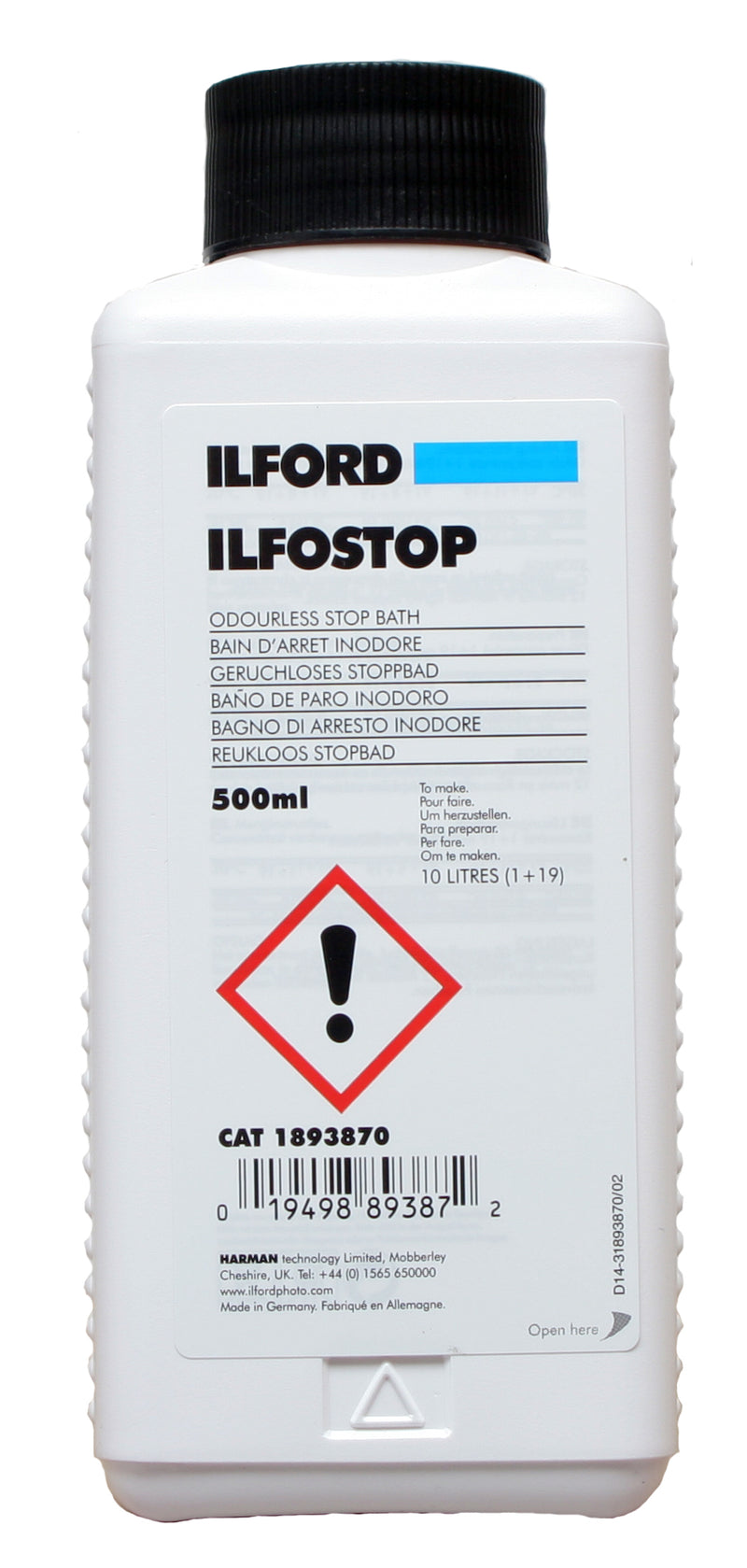 Black and White Paper Processing Chemical Kit (Ilford)