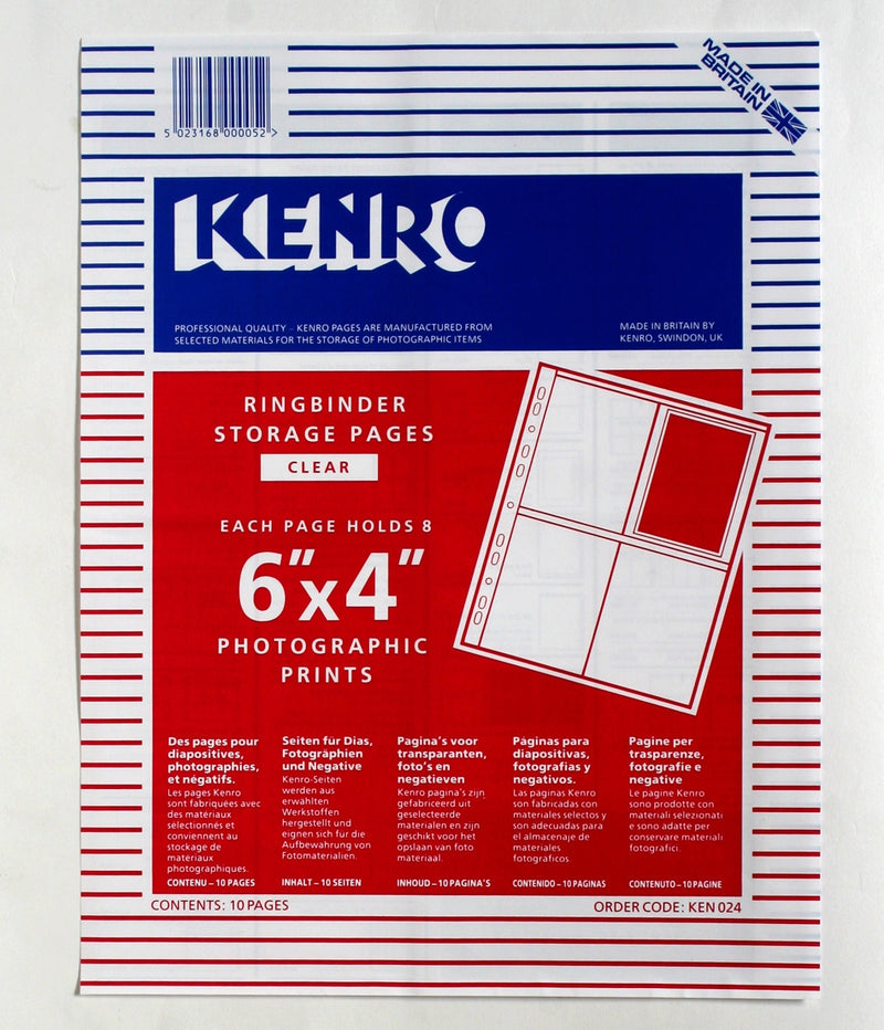 Kenro Ringbinder Print Storage Pages