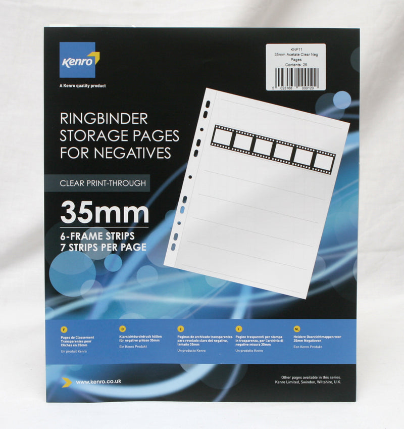 Kenro Transparent Acetate Negative Pages (to fit ringbinder)