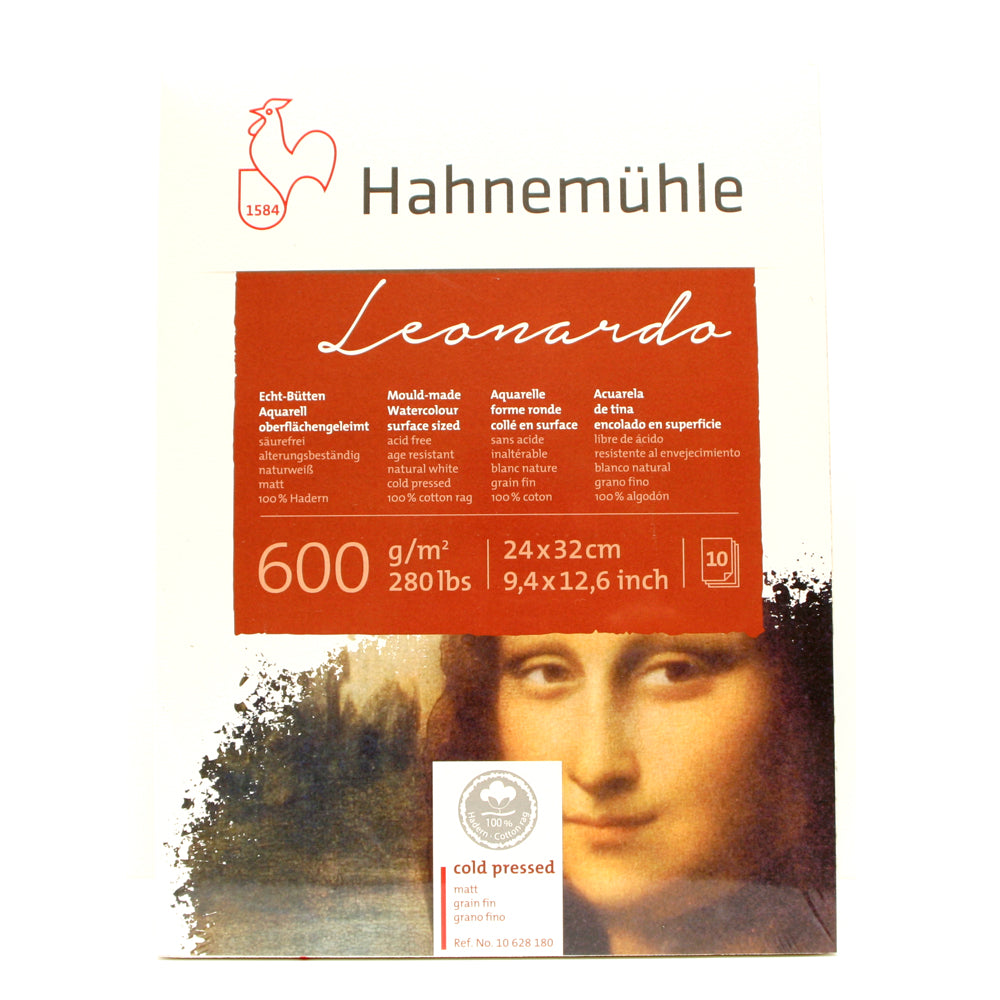 Hahnemühle Leonardo 600gsm Cold Press 24x32cm Block 10 Sheets