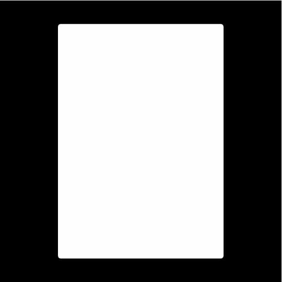 "Tuscany 5x7"" Rectangle Black Overlays (Pack of 10)"