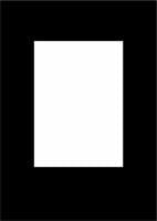 "Contemporary A4 5x7"" Black Overlay Pack of 5"