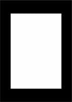 "Contemporary A4 9x6"" Black Pack of 5"