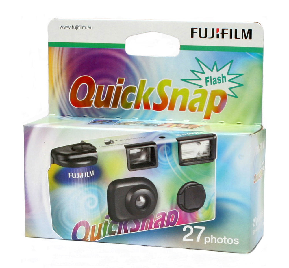 Fujifilm Quick Snap Flash 400 asa Colour disposable camera 27 exposures