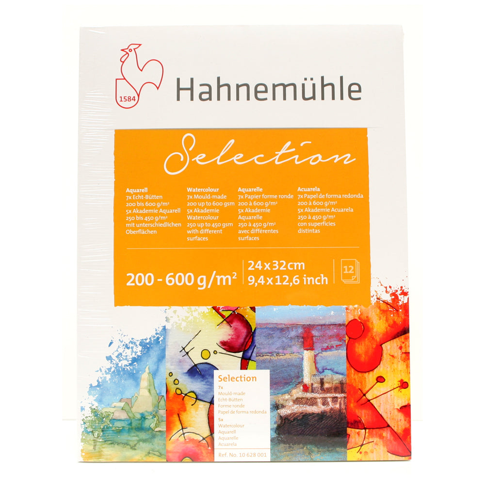 Hahnemuhle Selection Pack of Watercolour Papers 12 Sheets