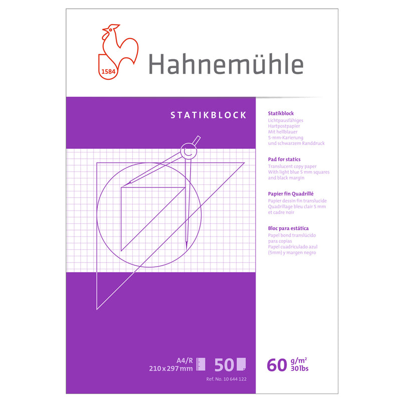 Hahnemuhle Static Pad A4 50 Sheets