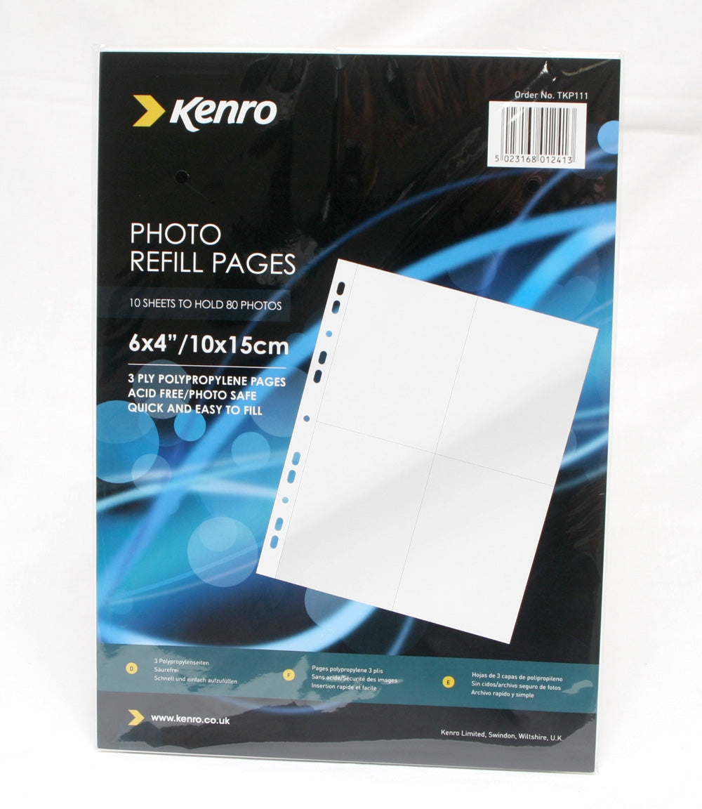 Kenro TKP Photo Pages for 6 x 4 prints Pack of 10 sheets