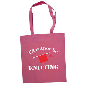 I'd rather be knitting bærenett rosa