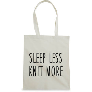 Sleep less knit more bærenett natur