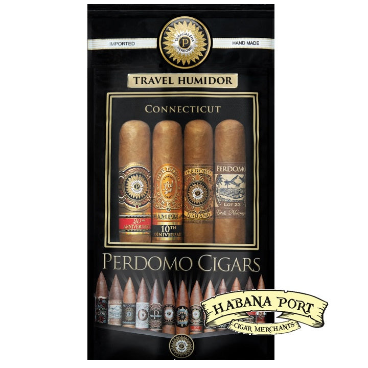 Perdomo 4pack Assortment Connecticut Toro 6x54