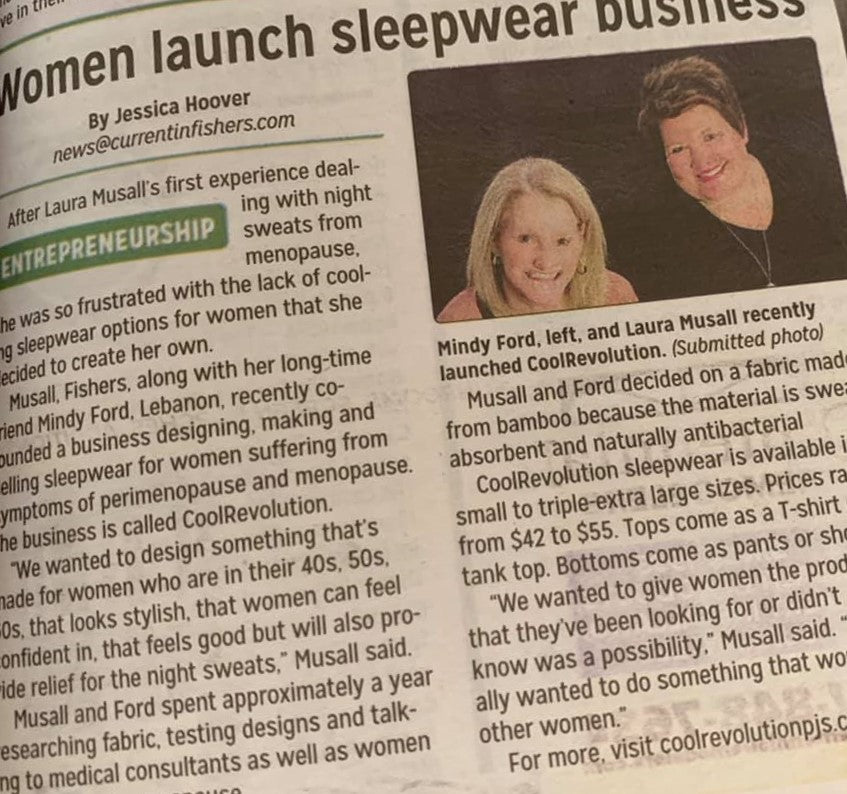 Current magazine features CoolRevolution sleepwear