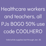 Healthcare workers and teachers discount in January BOGO 50% off