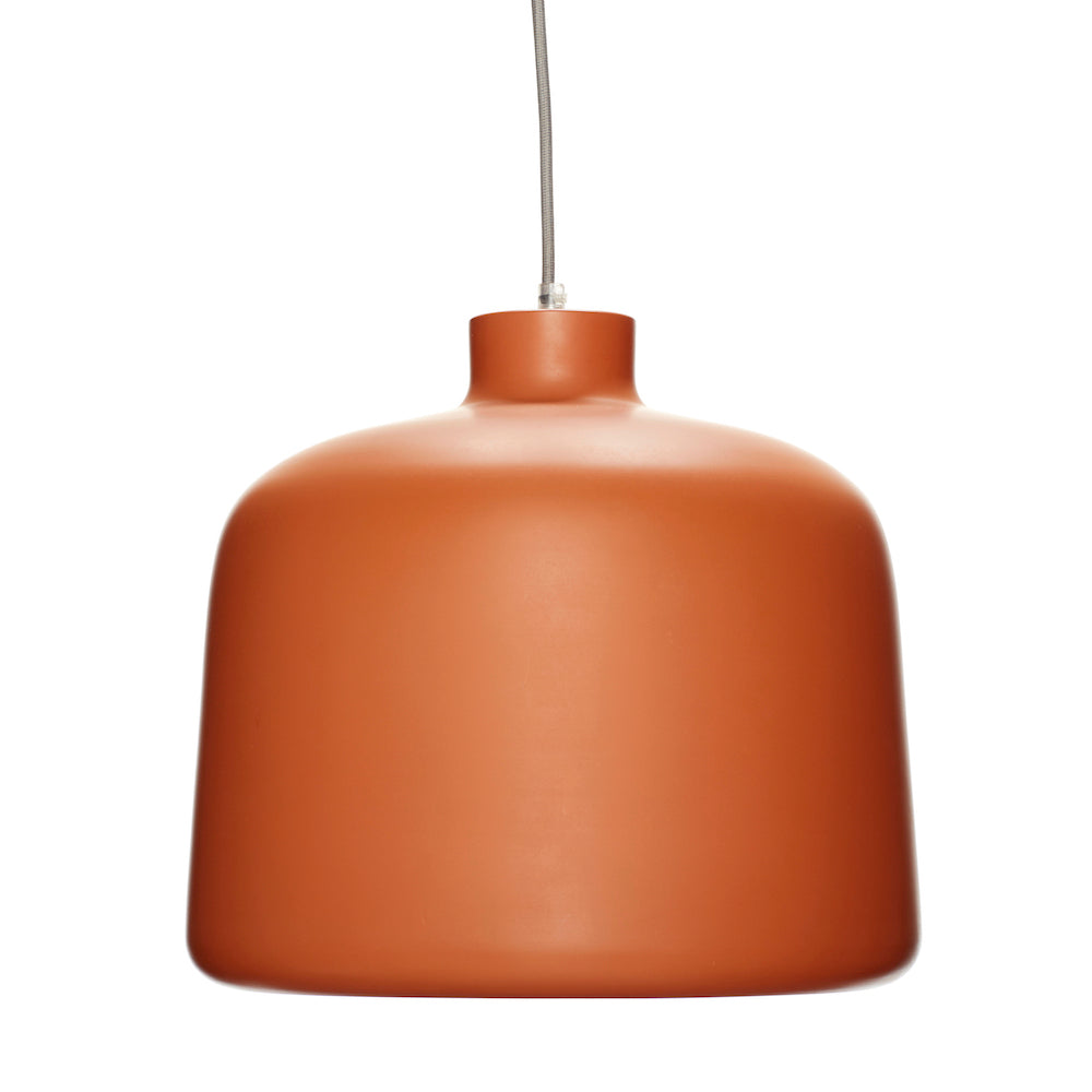 Aluminum, Terracotta Hanging Lamp