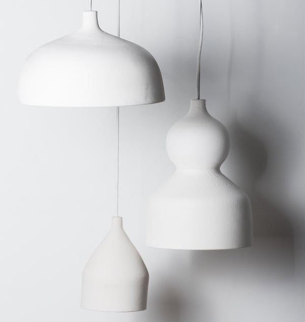 CHALK WHITE Porcelain Lamp