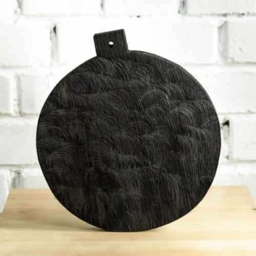 FOREST Round Oak Cutting Board with handle