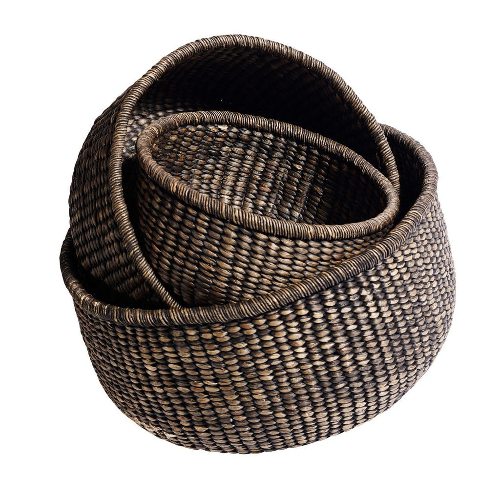 Hyacinth Round Basket