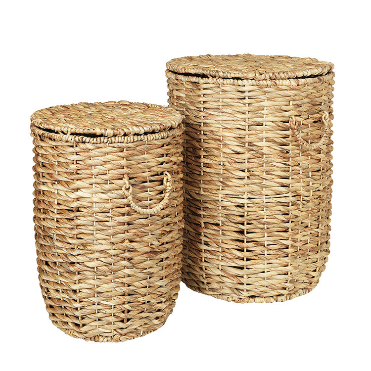 Seagrass Basket in Natural with Lid