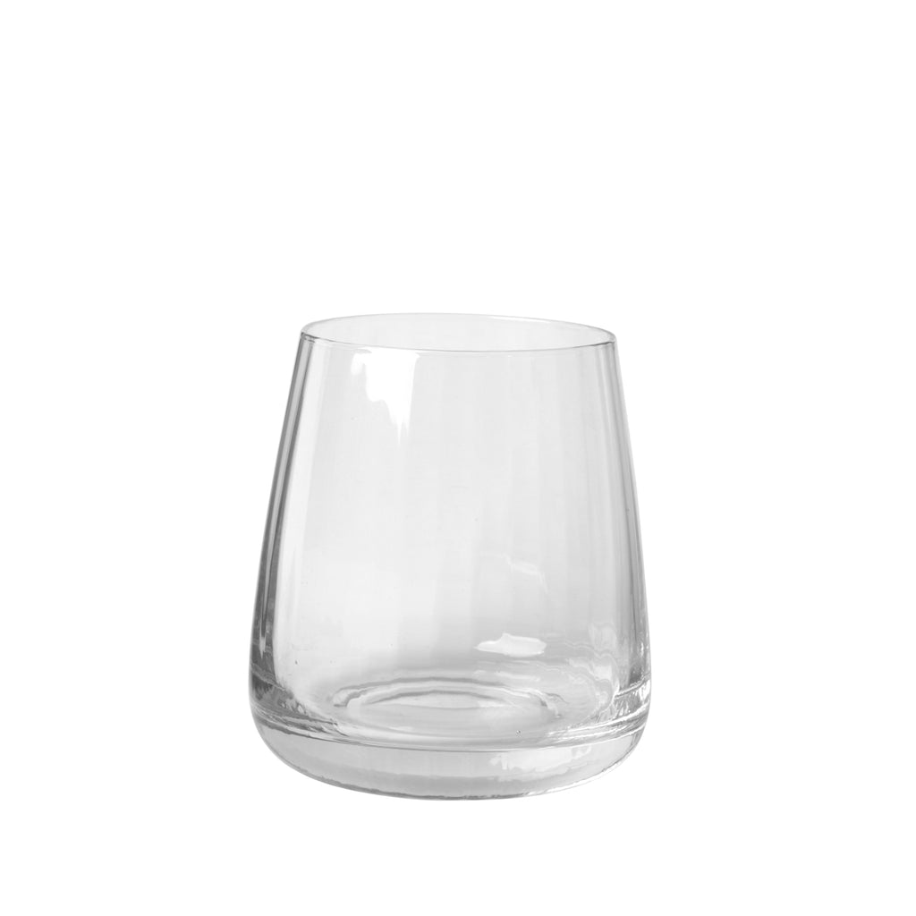 Grooved Clear Tumbler