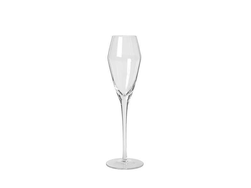 Grooved Clear Champagne Glass