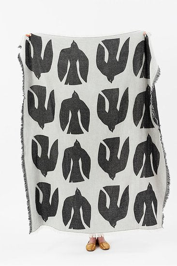 Merino Wool Blend Blanket - Early Bird Beluga