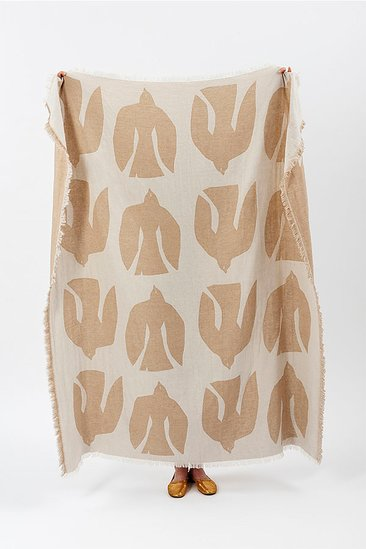 Merino Wool Blend Blanket - Early Bird Sand