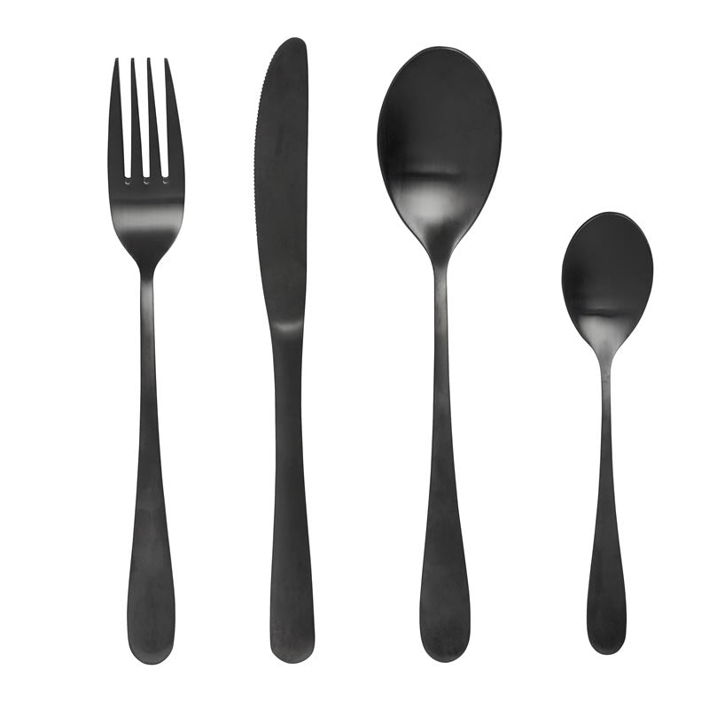 Black Stainless Steel Cutlery Set