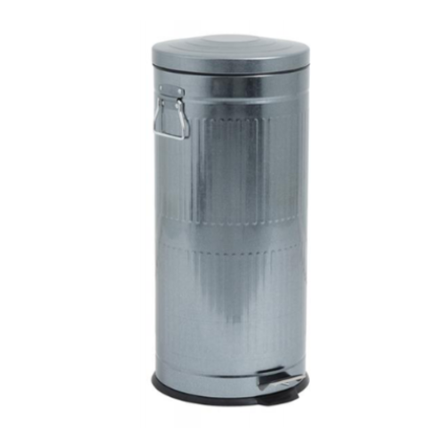 Rubbish Bin - Metallic