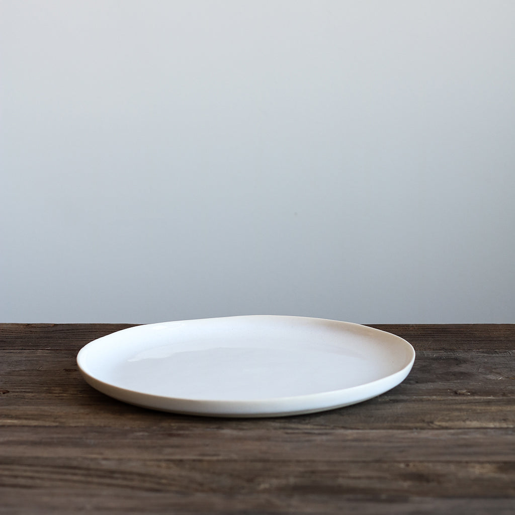 White Glazed Dinner Plate