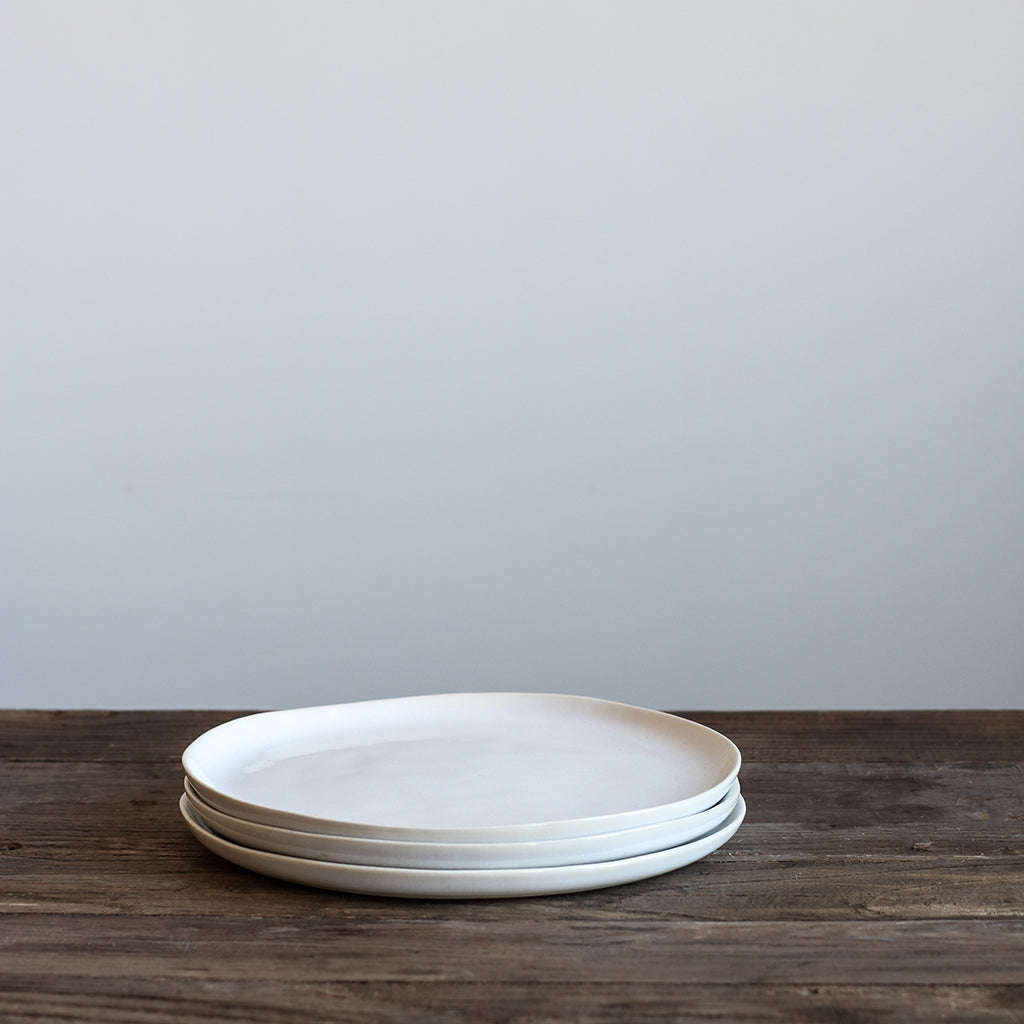 White Glazed Salad Plate