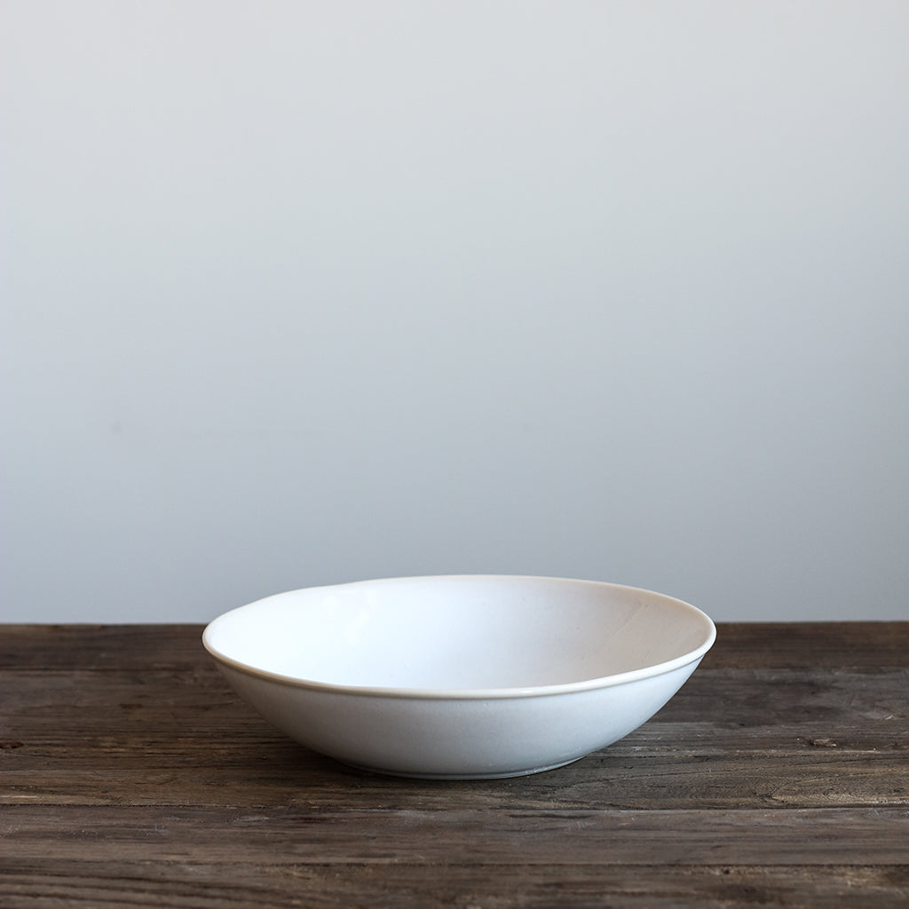 White Glazed Soup Plate