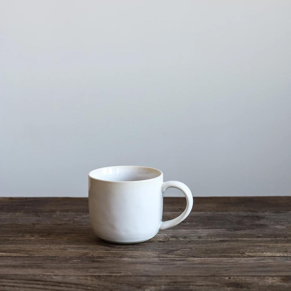 White Glazed Mug - Large