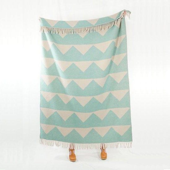 100% Wool Blanket -  Mint Arctic