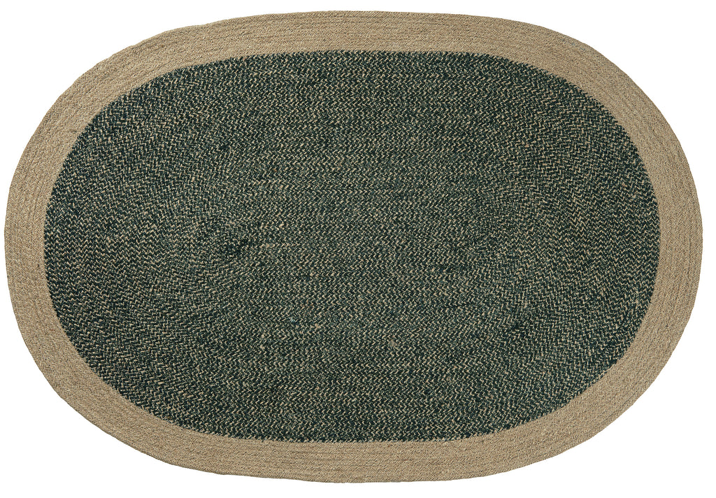 Oval seagrass Doormat - Grey