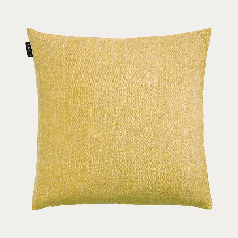 Linen Cushion 50x50 - Mustard Yellow