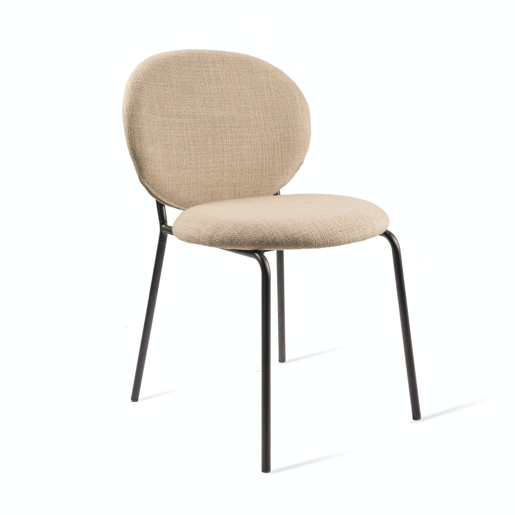 Simple Fabric Dining Chair - Beige
