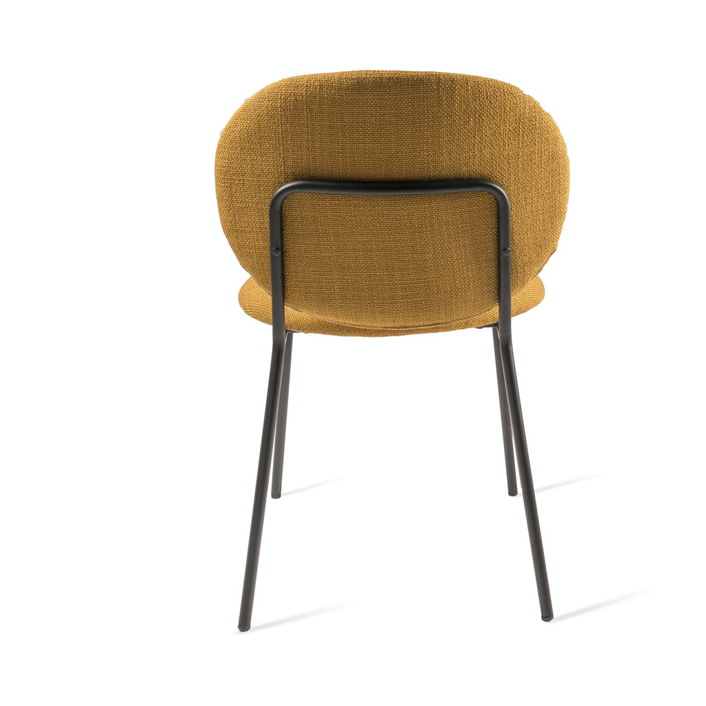 Simple Fabric Dining Chair - Yellow