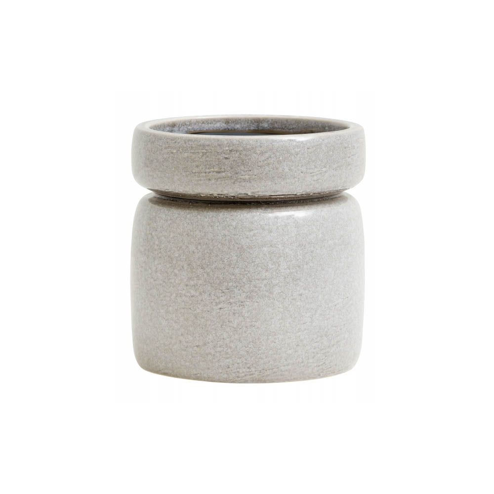 Ceramic Stoneware Plant Pot - Grey